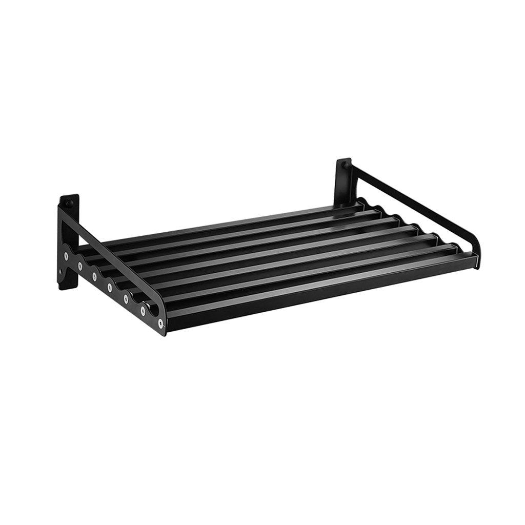 シンプルで実用的な黒いステンレススチール製のバスルームシェルフ、厚めのワイドトイレラック壁掛け式のキッチン収納ラック ( サイズ さいず : 50 cm 50 cm ) B078S33RY8 50 cm 50 cm 50 cm 50 cm