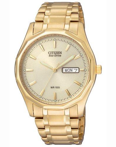 Citizen BM8432-53PE - Reloj analógico de cuarzo para hombre, correa de acero inoxidable