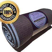 FloAthletika HOT YOGA TOWEL - Premium Skidless Towel with Silicone bottom, Extra Absorbent, Anti-Slip, Washable, Mat Size. Best Yoga Towel for Bikram and other forms of Yoga / Pilates