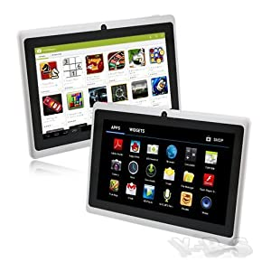 7 Inch E-Passion Android 4.4 kitkat Rooted PC Tablet - Greatest Touch Screen - HDMI Output 1080P - Micro USB Port - Slim Style All Purpose,Great for Kids & Adult - Face & Back Camera - Wifi for Internet - DualCore - Google Play Installed