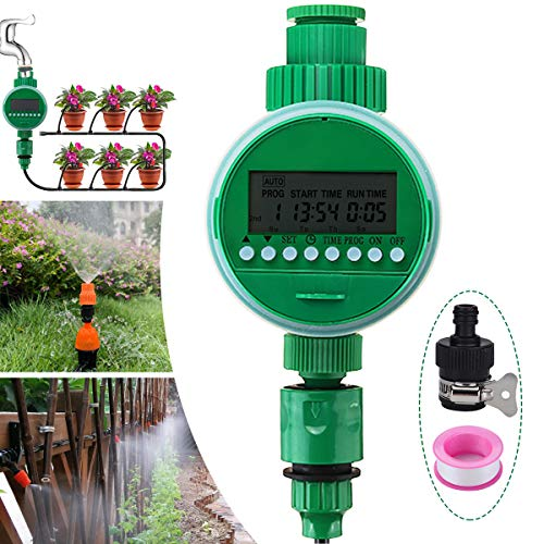 Jeteven Hose Faucet Water Timer, Programmable Sprinkler Filter Accessories Kit, for Automatic Smart Garden Yard Lawn Greenhouse Drip Irrigation Watering Plant System