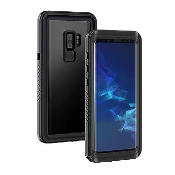 Lanhiem Funda Impermeable Samsung S9 Plus, Carcasa Resistente Al Agua IP68 Certificado [Protección de 360 Grados], Carcasa para Samsung Galaxy S9+ ...