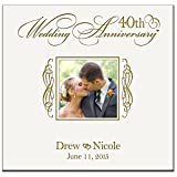 Personalized Mr & Mrs 40th Wedding Anniversary Gifts Photo Album Holds 200 4x6 Photos Wedding Gift Ideas Made By LifeSong Milestones