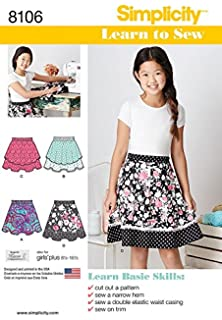 Simplicity SEWING PATTERN 8065 Girls Or Girls Plus Dress//Dress With Overbodice