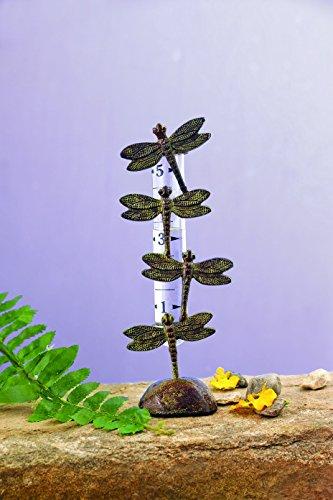 Happy Gardens Dragonfly Rain Gauge - Cast Brass by Happy Gardens