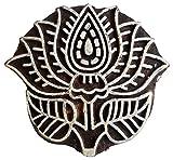 Lotus Flower Rare Carving Wood Craft Block/Stamp Textile Fabric Printing India