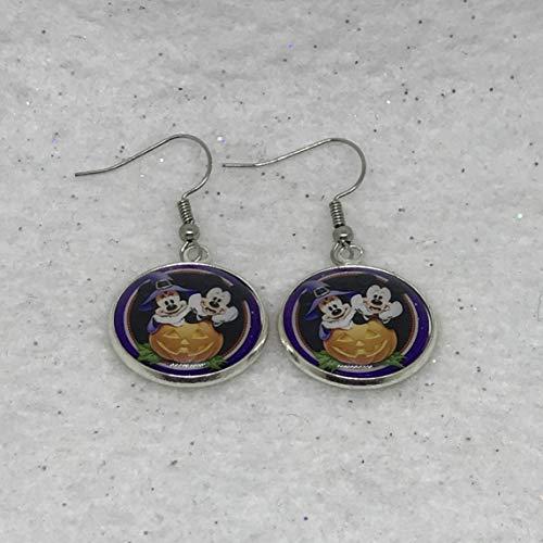 Disney Inspired Mickey & Minnie Halloween Earrings ()