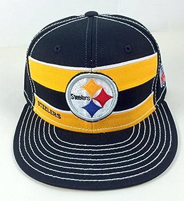 Pittsburgh Steelers Nfl Custom Snapback Hat Plastic Snap from REEBOK