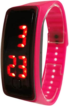Silicone Electronic Watch Live Children S Electronic Watch Sports Watch Smart Sports Watch Rose Red Amazon Co Uk Kitchen Home