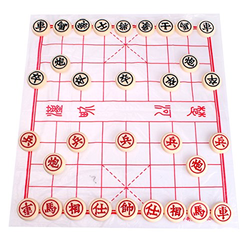 Ulike2 Xiangqi Vintage Chinese Chess Family Game Easy Travel Tour Packages Chess Set (2#) by Chess