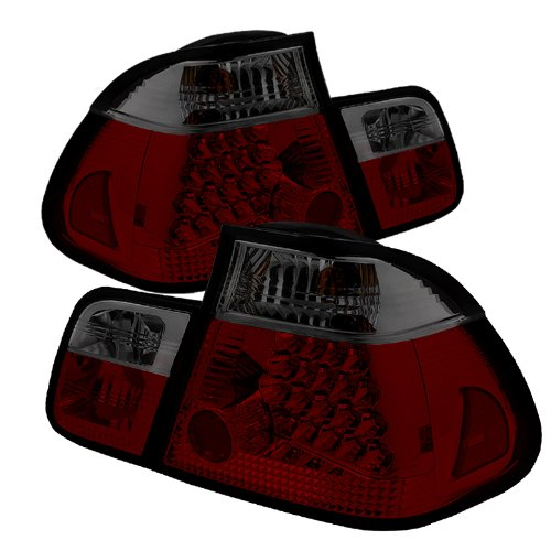 Series 3 Led 4d (Spyder Auto ALT-YD-BE4602-4D-LED-RS BMW E46 3-Series 4-Door Red/Smoke LED Tail Light)
