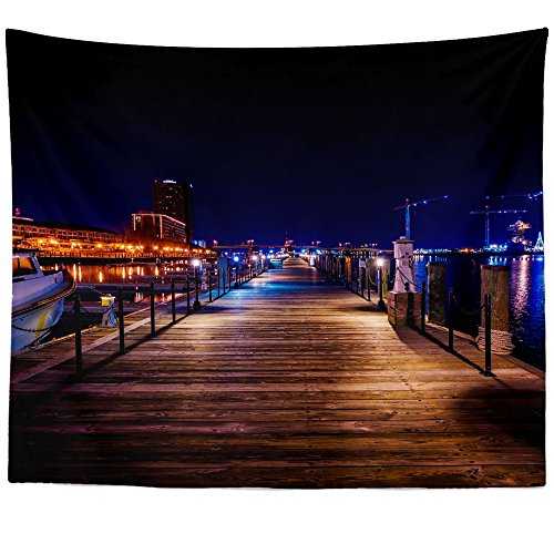 Westlake Art - Wall Hanging Tapestry - Reflection Cityscape - Photography Home Decor Living Room - (Portsmouth Outdoor Hanging)