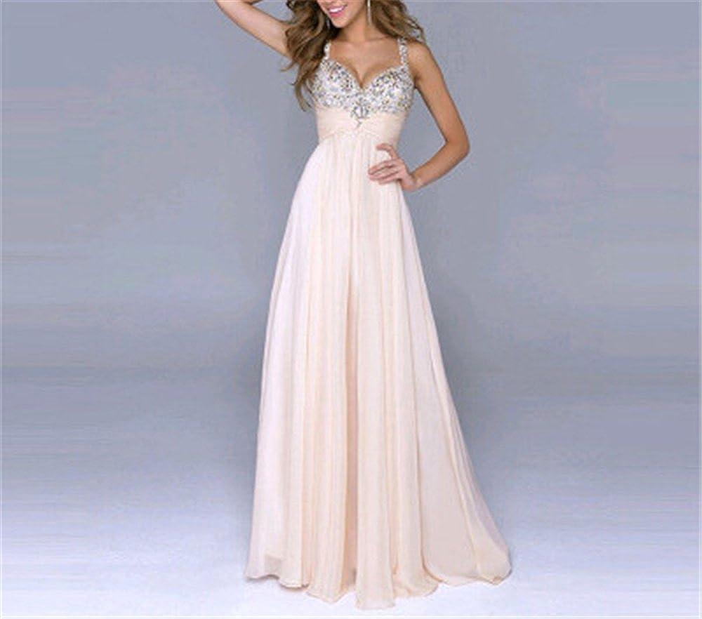 FACOCO Elegant Long Skirt Womens Harness Skirt V-Neck Dress Sleeveless Dress