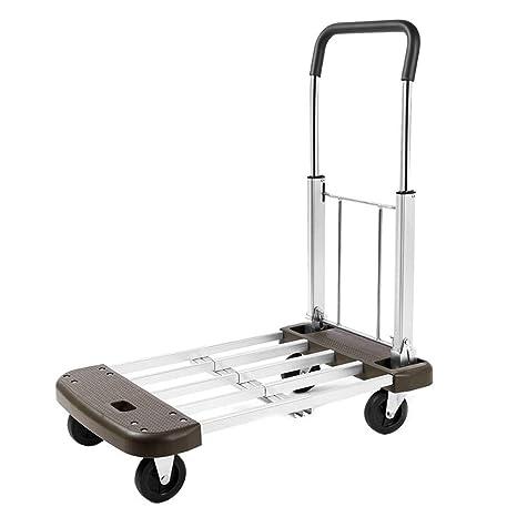 Hand Cart Trolley Carro Plegable Multifuncional, Carretilla De Mano con Gran Capacidad De Carga,