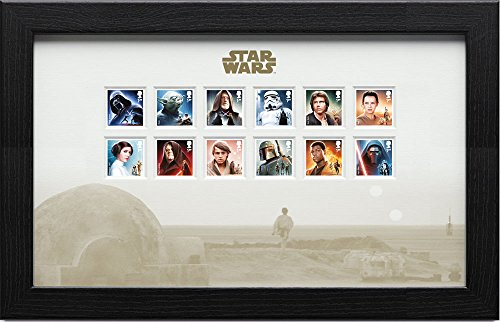 Royal Mail Star Wars Framed Stamps Characters 43 x 27 cm Decorazioni