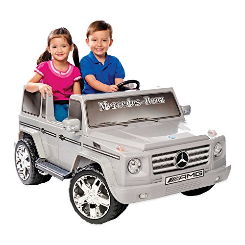 Kid Motorz Mercedes Benz G55 AMG 2-Seater 12-Volt Ride-On in Silver by Generic