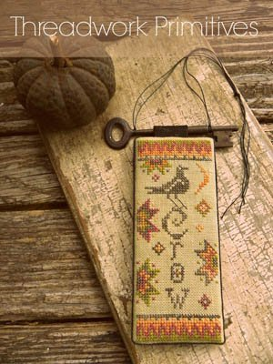 Primitive Crow Cross Stitch Chart and Free Embellishment