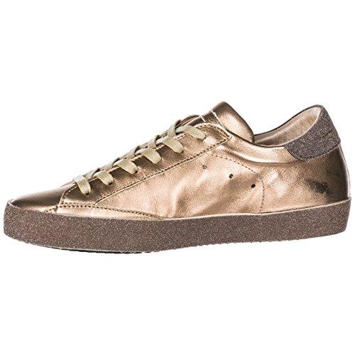 Glitter Sneakers In Model Scarpe Nuove Pelle Philippe Paris Oro Donna wq8SHRHF