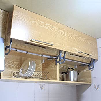 Gimify Hanging Cabinet Door Vertical Swing Lift Up Stay Pneumatic Kitchen Mechanism Hinges Gas Support Arm & Cabinet Door Vertical Swing Lift Up Stay Pneumatic Arm Kitchen ...
