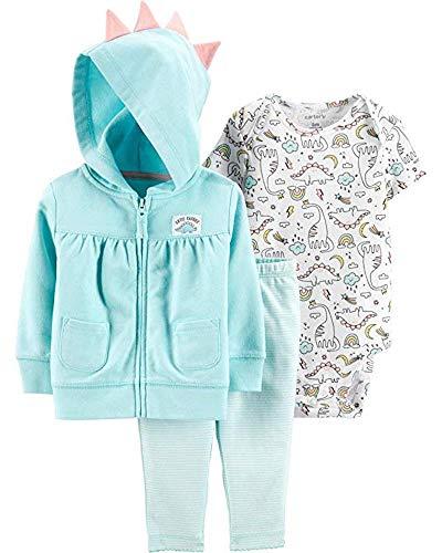 (Carter's Baby Girls' Cardigan Sets (Turquoise/Cutie-Saurus, 18 Months))