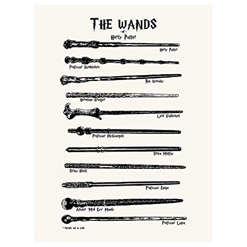 "Inked and Screened Sci-Fi and Fantasy ""Harry Potter Wands"" P"