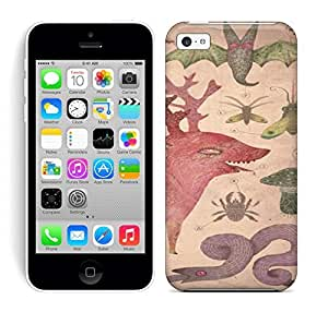 Best Power(Tm) HD Colorful Painted Watercolor A Biological Drawing By Vladimir Stankovic Of Fantasy Creatures And Insects Hard Phone Case For Iphone 5C