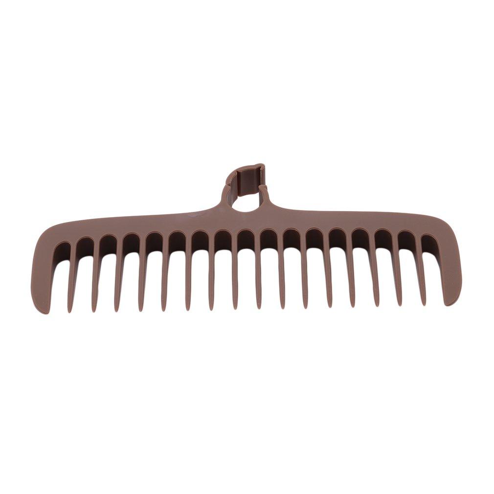 GloryMM Broom Dusting Brushes Home Bathroom Bristles Remove Hair Sewer Cleaning Brush Teeth Comb Household Tool,Coffee