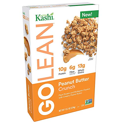 Kashi GOLEAN, Breakfast Cereal Peanut Butter Crunch Non-GMO Project Verified, 3 Pack (13.2 oz) (Kashi Butter Peanut)