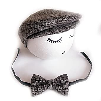 9d21eb492fa Bighub 1Set Crochet Baby Toddler Hat And Tie Handmade Born Photography  Props Baby Cap Beanie Infant Bow Tie Set 05  Amazon.in  Clothing    Accessories