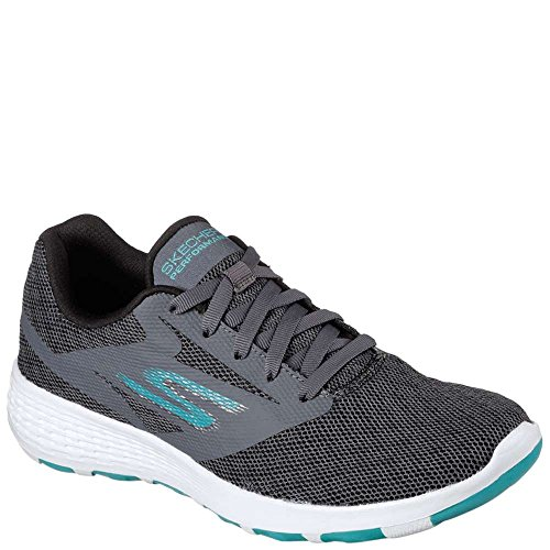 Skechers Performance Women's Go Walk Cool-15651 Sneaker,Charcoal/Turquoise,7.5 M (Skechers Cool)