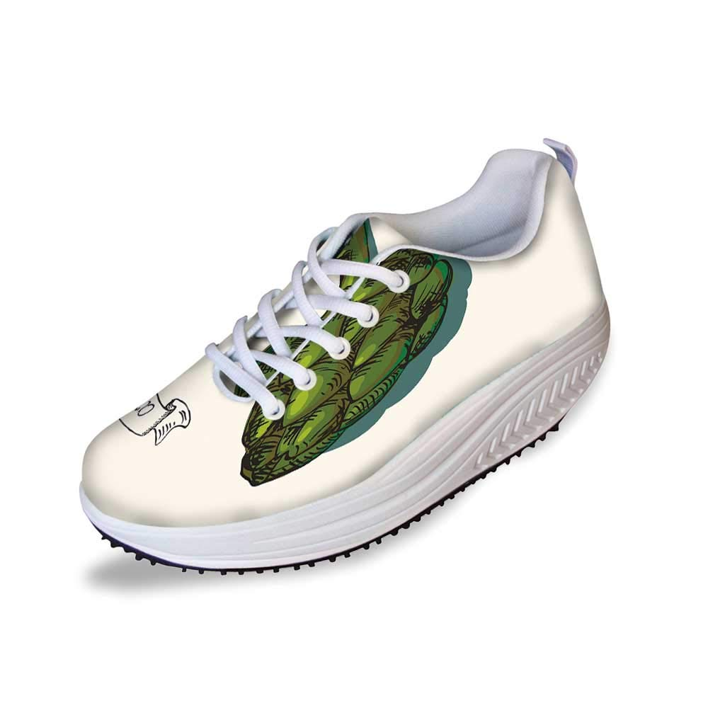 Artichoke Stylish Shake Shoes,Artichoke Illustration Organic Food Fresh Garden Yield Healthy Choice Life Style Decorative for Women,10