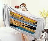 Best Tommy Bahama Beach Boats - Anniutwo Beach,Bath Towel,Tropic Island Pattern Horizontal Banner Style Review