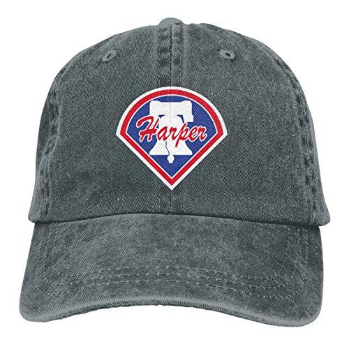 (Moore Me Adjustable Baseball Cap Blue Philadelphia Harper Logo Cool Snapback Hats)