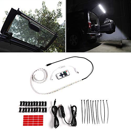 for Jeep Wrangler LED Rear Glass Lift Gate Dome Light Bar fit 2007-2018 JK JKU JL JLU Camping Tailgate Flexible Strip