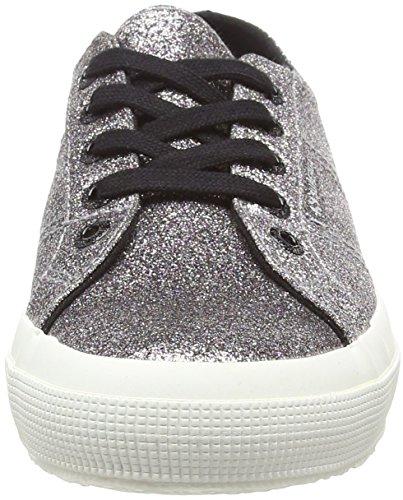 superga Donna 924 Sneaker microglitterw Silver Supek 2750 black Cdwfn6wq