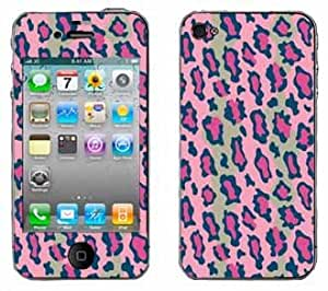 Pink Leopard Print Pattern Skin for Apple iPhone 4 4G 4th Generation