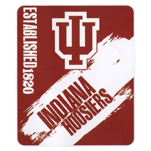 The Northwest Company NCAA Collegiate School Logo Fleece Blanket (Indiana Hoosiers, 50