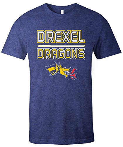 Ncaa Drexel Dragons Reverse Short Sleeve Triblend T Shirt  Medium Navy