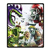 "Clear Plants Vs Zombies Garden Warfare Custom Bed/Sofa Soft Throw Fleece Blanket 58""x80"""
