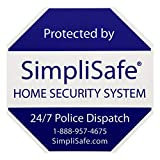 SimpliSafe 1 Home Security Yard Sign with 4