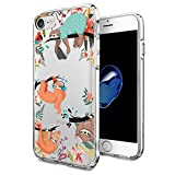 Cocomong Cute Sloth Design for iPhone 7 iPhone 8 Case Clear 4.7' Funny Animal Phone Case Protective Flexible Soft TPU Cover Gifts for Girls Men Women Friends Anti-Drop-Scratch Shockproof Bumper