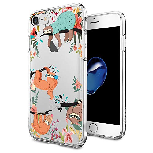 Cocomong Cute Sloth Design for iPhone 7 iPhone 8 Case Clear 4.7