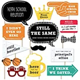 Big Dot of Happiness Class Reunion - Photo Booth Props Kit - 20 Count