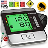 Dr Trust (USA) Goldline Fully Automatic TALKING Blood Pressure Monitor with 3 COLOR Hypertension Backlight, Irregular Heart Beat Detection & Dr.Trust
