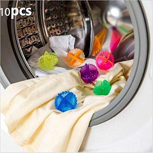 Kicode 10 Pack Reusable Spirally Shaped Washing Machine Laundry Ball Clean Ball Fabric Clothes Washing Cleaning Tool Household Cleaning Decontaminate
