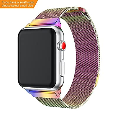 Apple Watch Band 38mm/42mm, Fully Magnetic Closure Clasp Mesh Loop Milanese Stainless Steel Replacement Bracelet Strap for iWatch Band Series 3/ 2/ 1