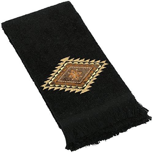 Avanti Linens Mojave Fingertip Towel, Black (Avanti Black compare prices)