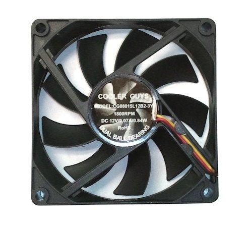 Coolerguys 80x80x15mm 12v Fan 3 pin CG08015L12B2-3Y
