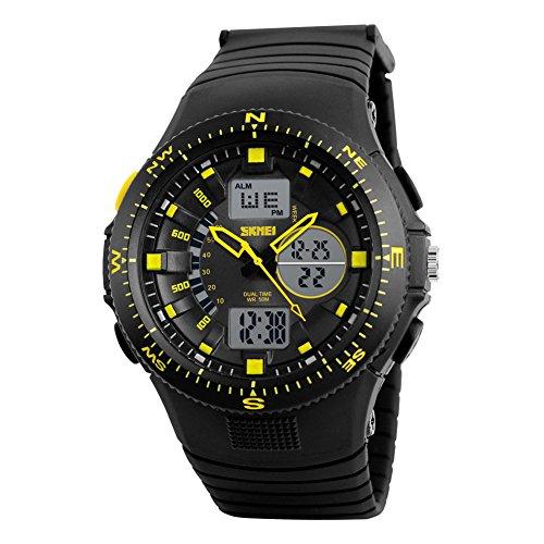 Rockyu ブランド 人気 レディース メンズ スポーツ ウォッチ 防水 樹脂 メンズ時計