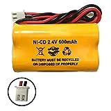 2.4v 400mah BST Battery Replacement Exit Sign Emergency Light Exitronix 10010036 Lithonia 10010034 Interstate NIC1394 BEL-179 2.4v 400mah 2.4v 800mah (5 Pack)